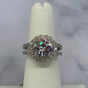 RS Covenant Sparkly Clear Large Solitaire CZ Ring